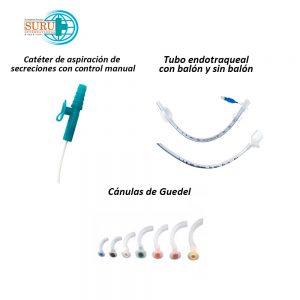 Intubación y cuidados de vías aéreas SURU